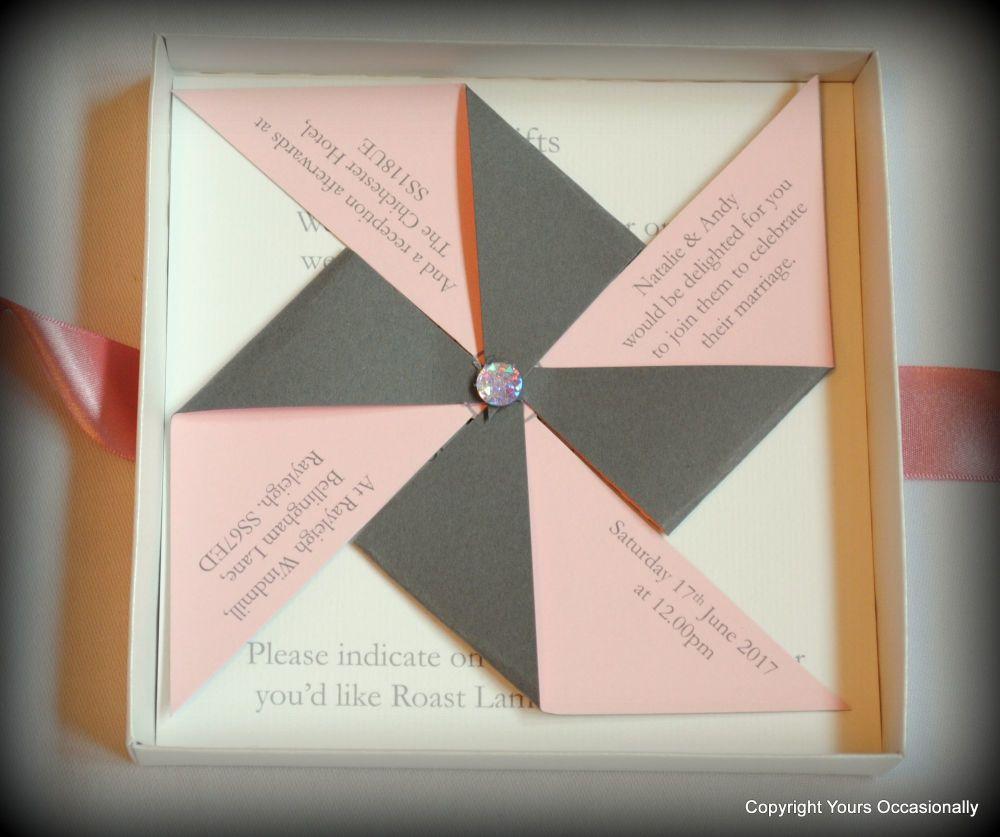 Bespoke Pinwheel Invitations