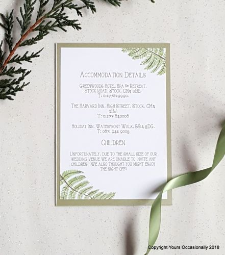 Fern Gully Invitation