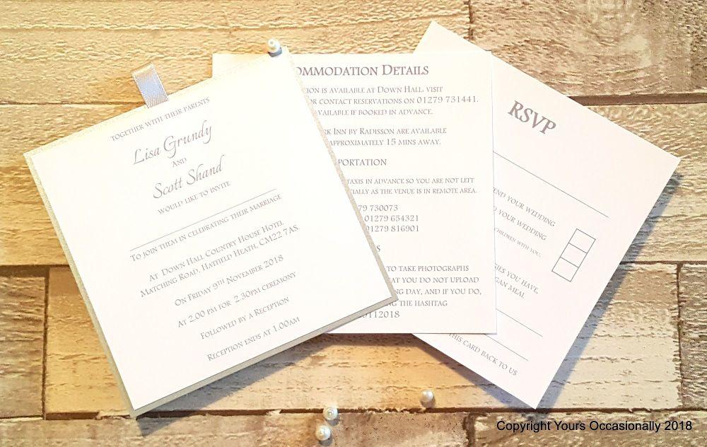 Dior Bow Pocket Invitation