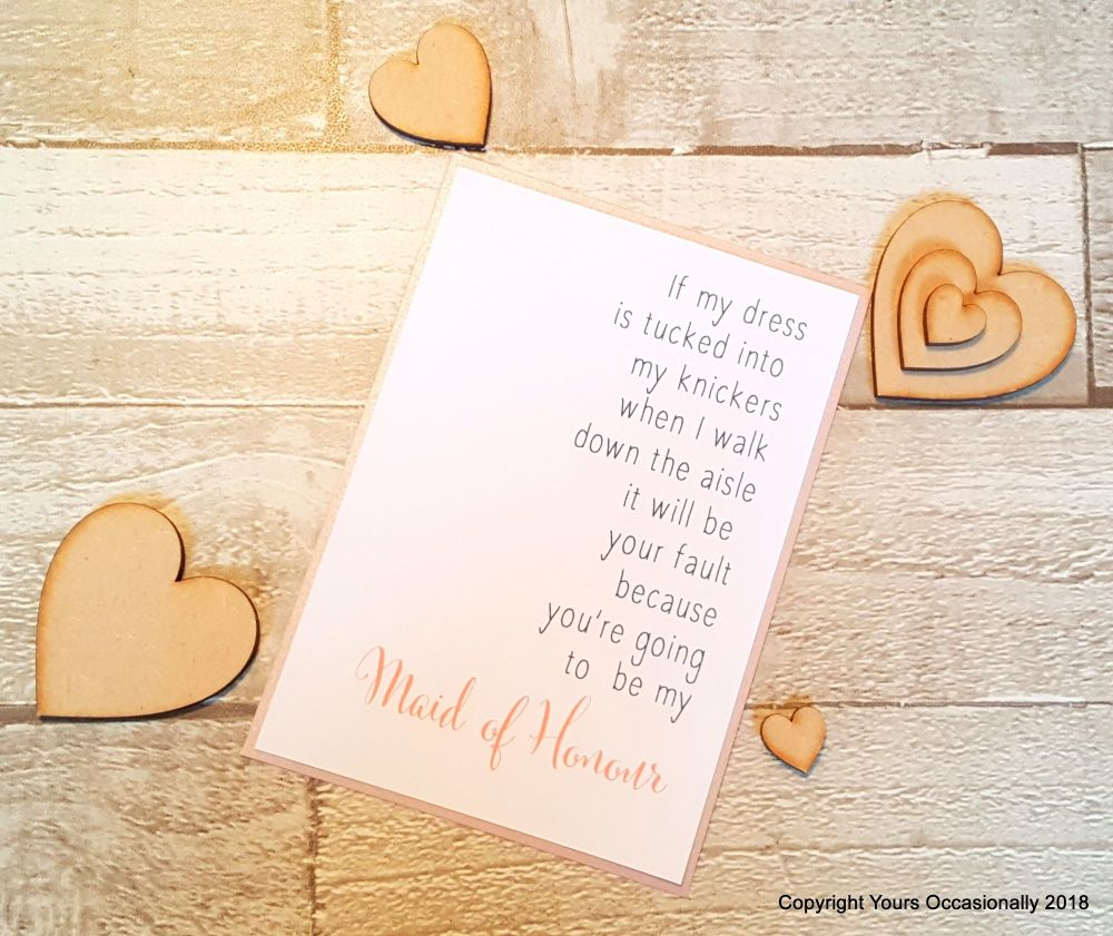 Will You Be My Maid of Honour Postcard