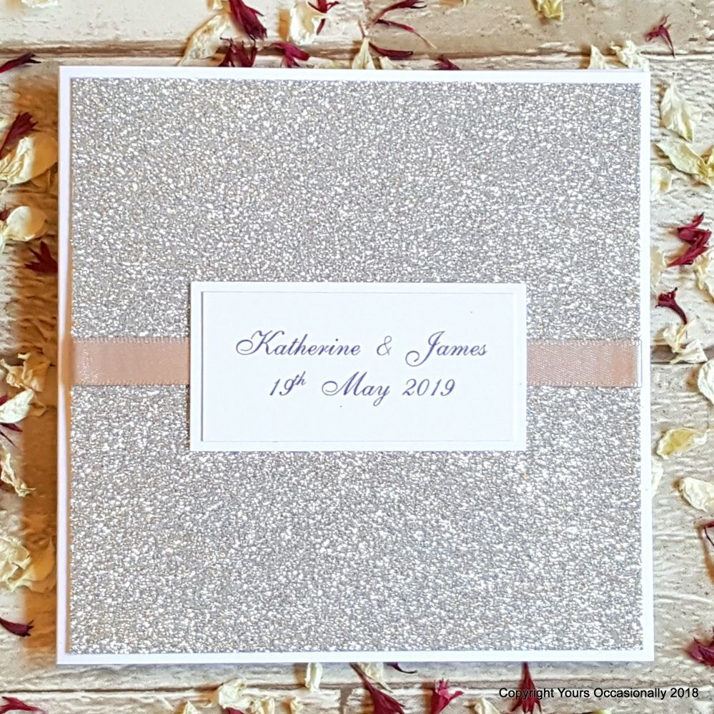 All That Glitters Bookfold Invitation