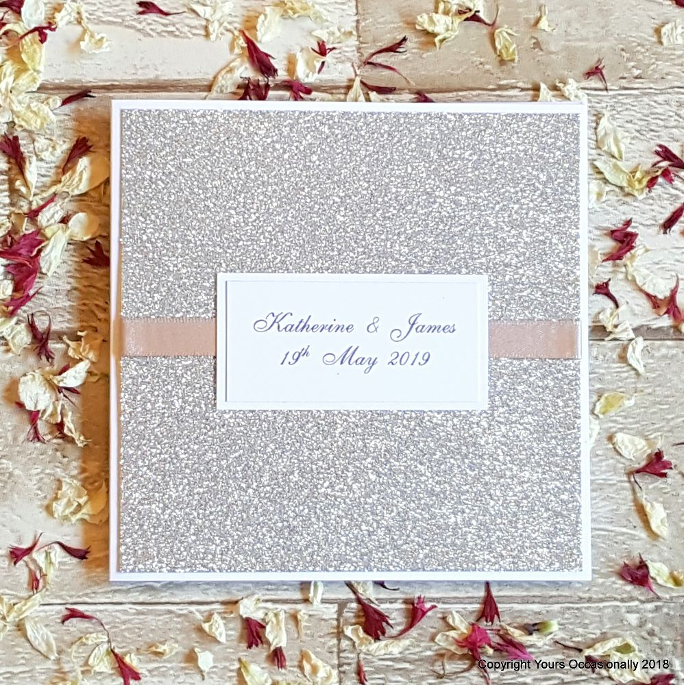 Glitter Card Wedding Invitations