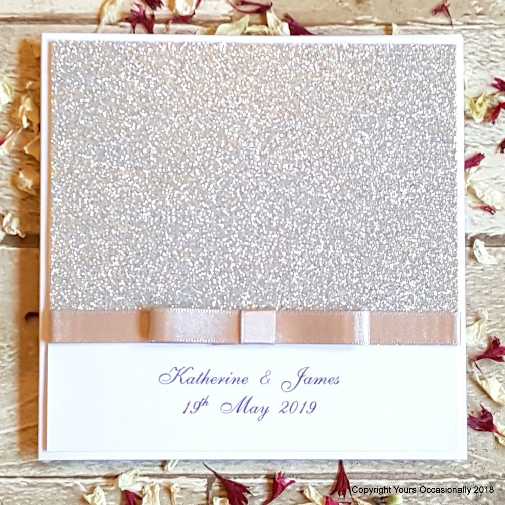 Glitterati Bookfold Invitation
