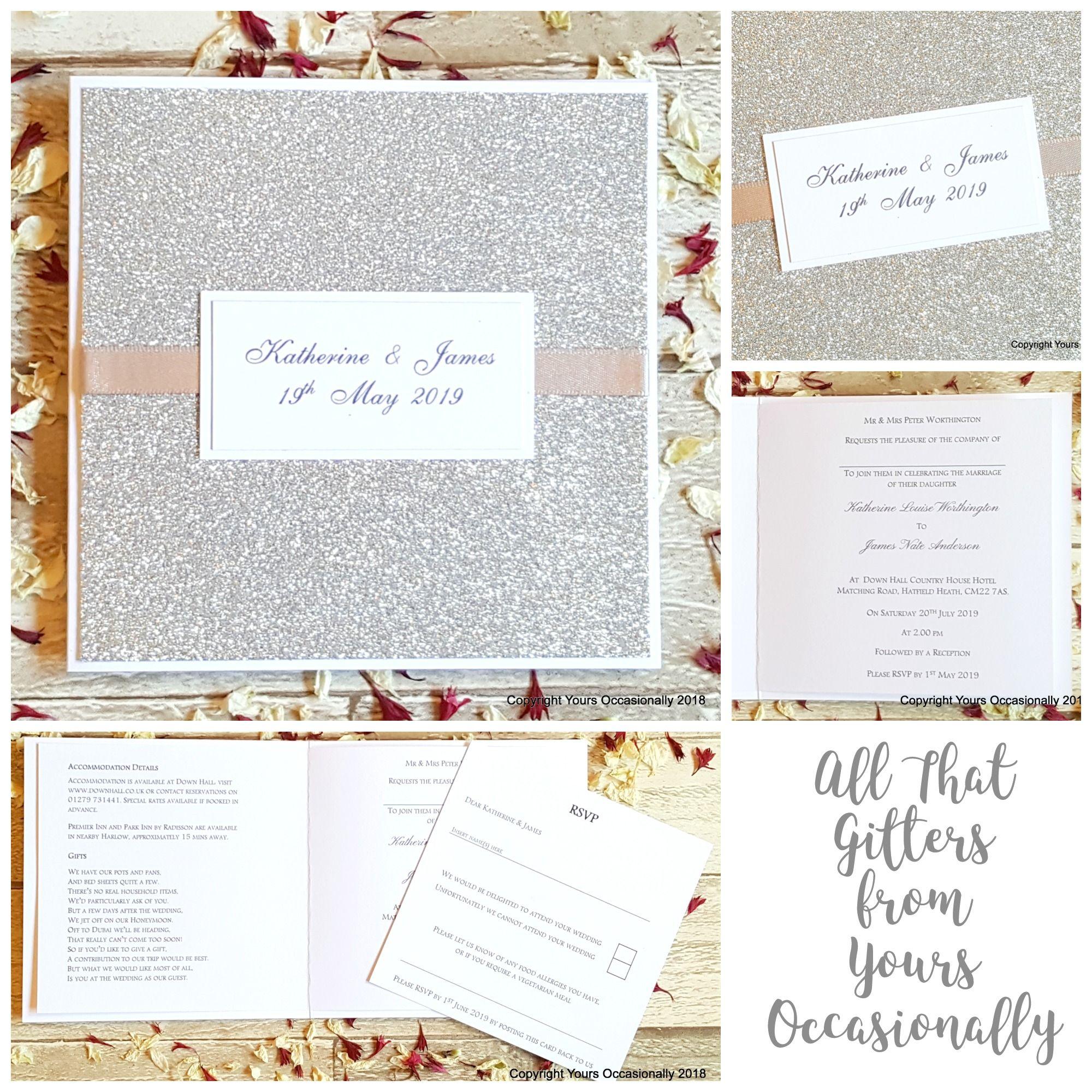 All That Glitters Bookfold Wedding Invitation