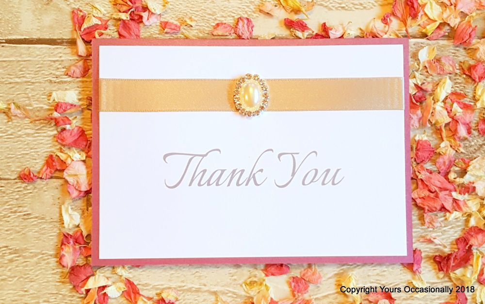 Pearl Passion Thank You Card