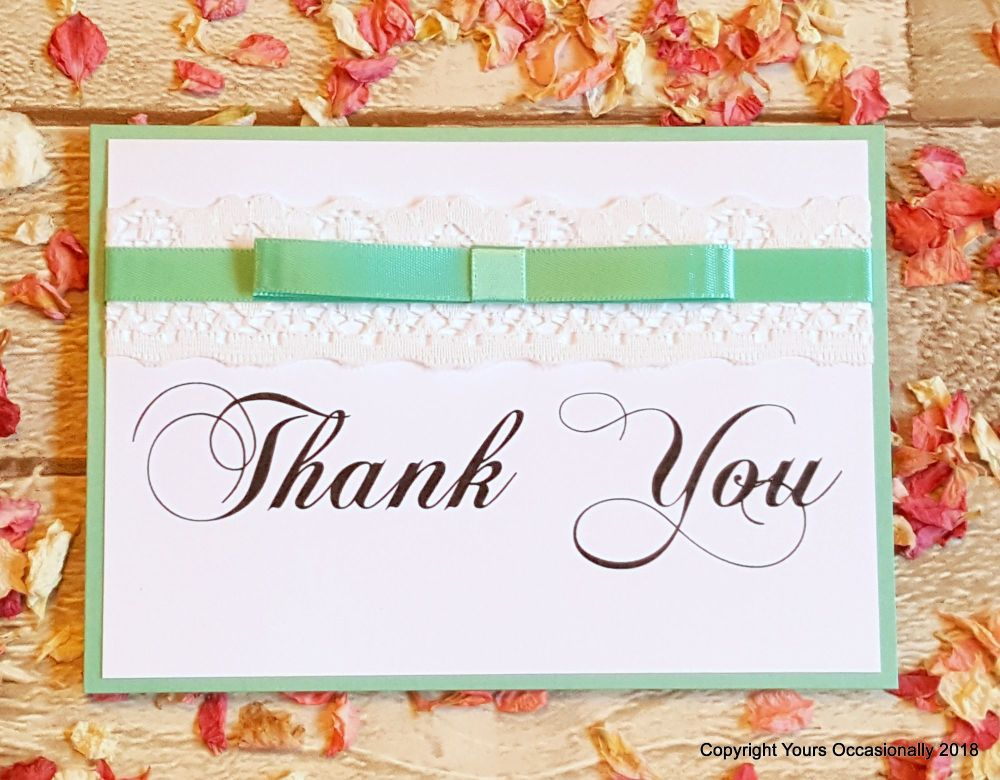 Lace It Up Thank You Card