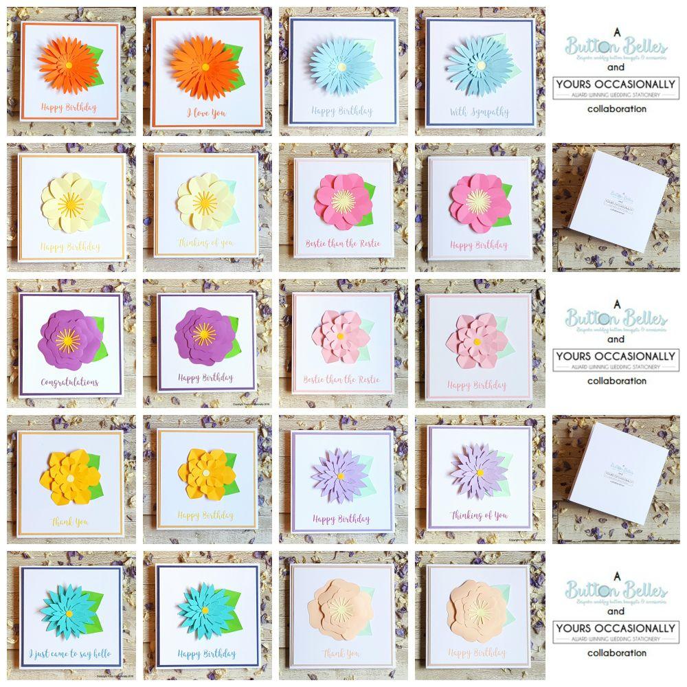 3D Flower Greeting Cards