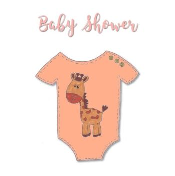 Giraffe Baby Shower Cards