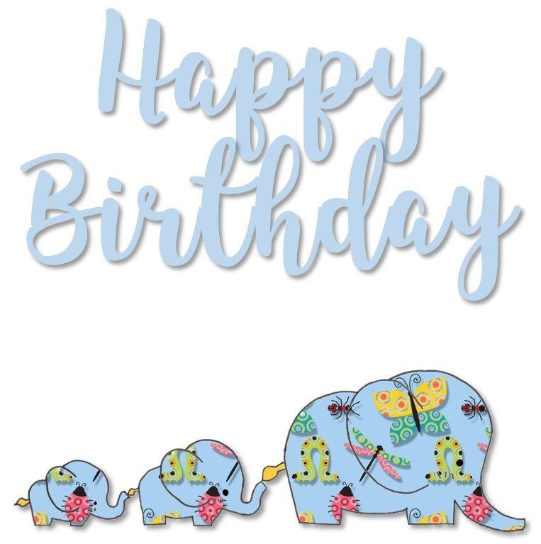 4. Children's Elephant Birthday Cards