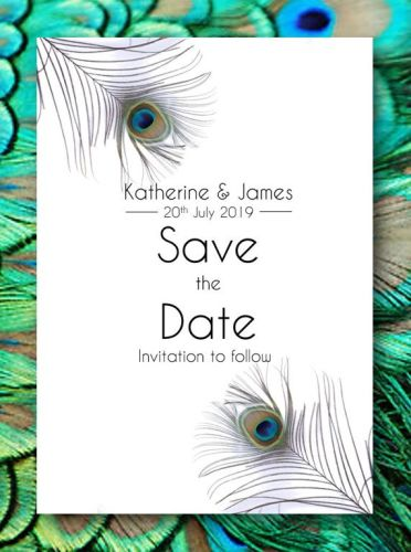 Peacock Dreams Save the Date