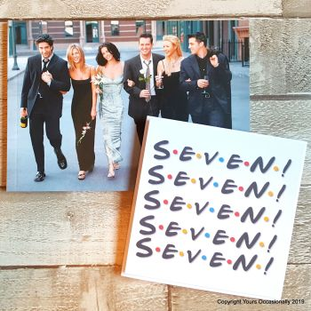 Seven! - Greeting Card
