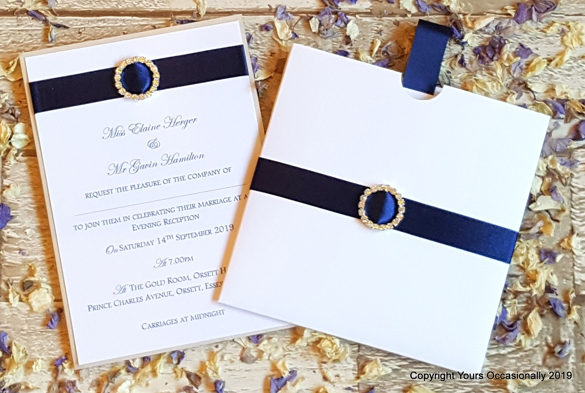 Subtle Sparkles Pocket and Postcard Invitations