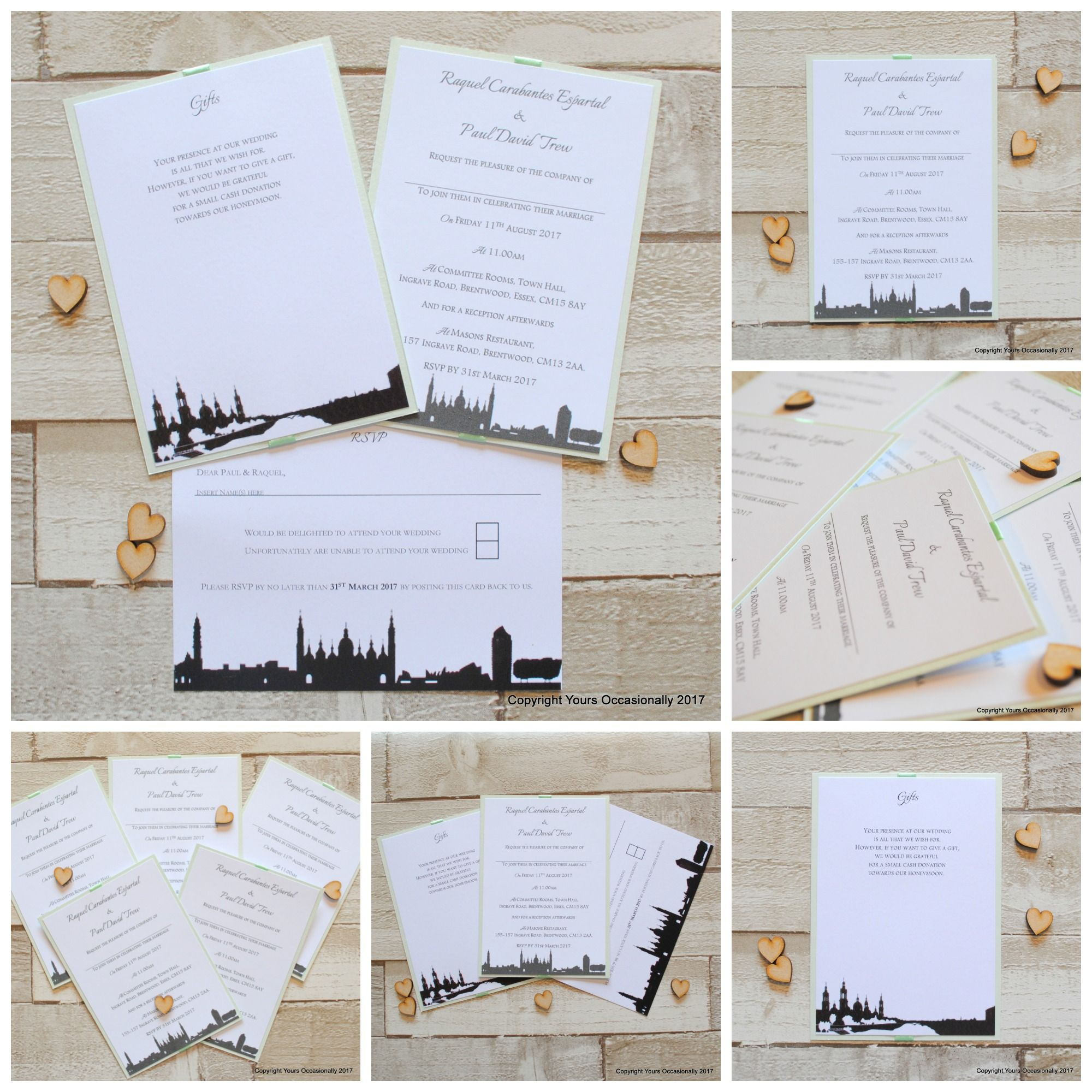 Bespoke City Skyline Wedding Invitations