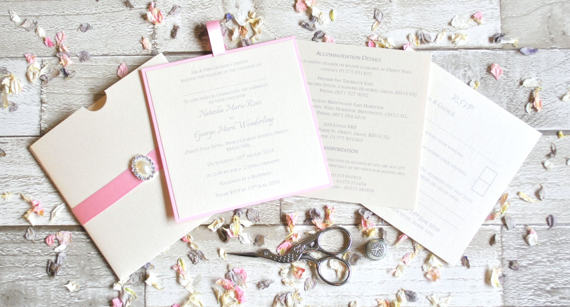 Pearl Passion Pocket Invitation