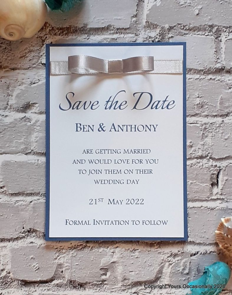 Blissful Bow Save the Date