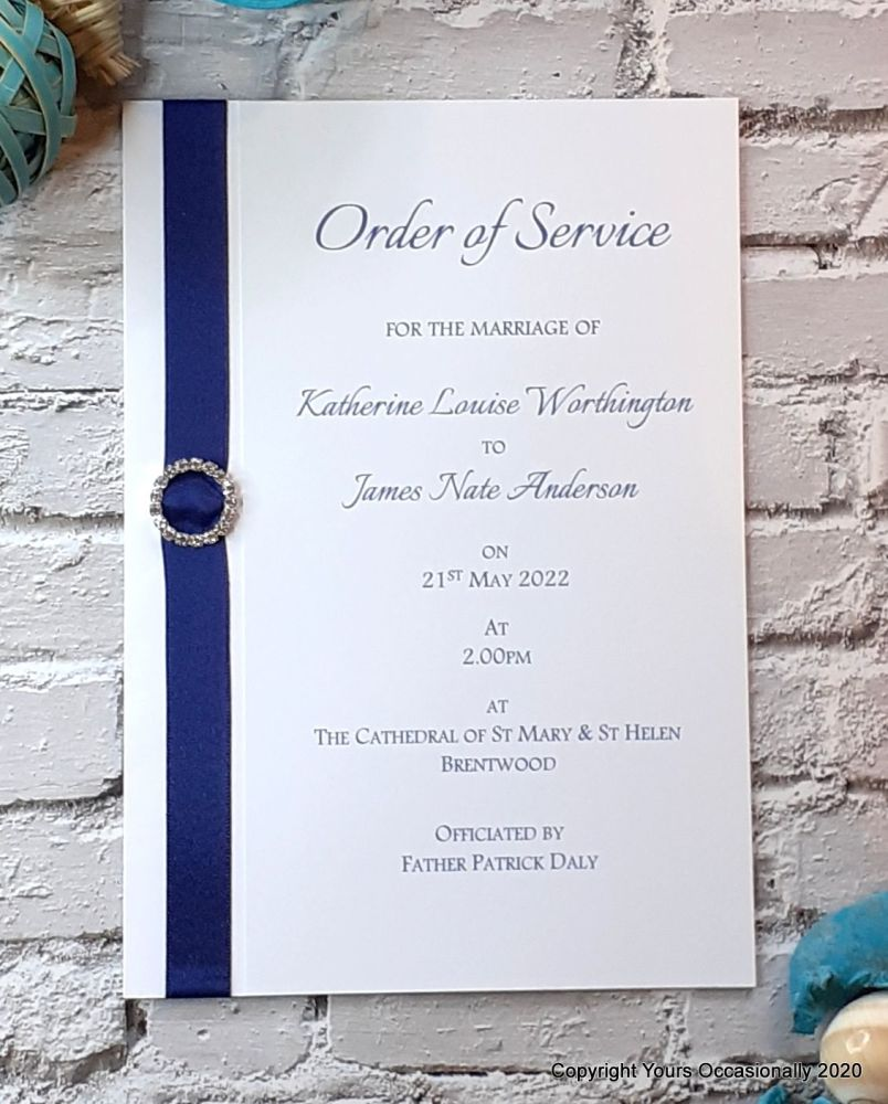Subtle Sparkles Order of Service Booklet