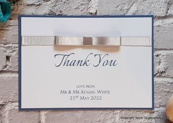 Blissful Bow Thank You Card