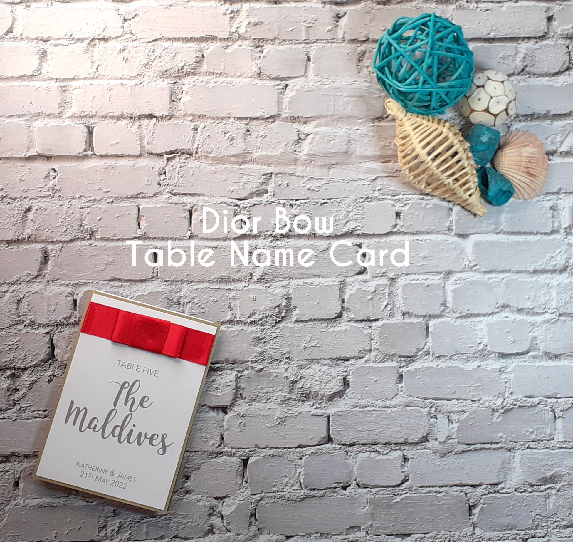 Dior Bow Table Name Card