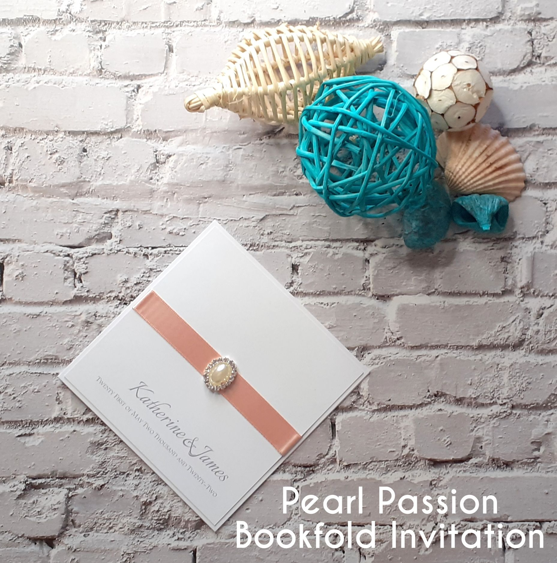 Pearl Passion Bookfold Invitation