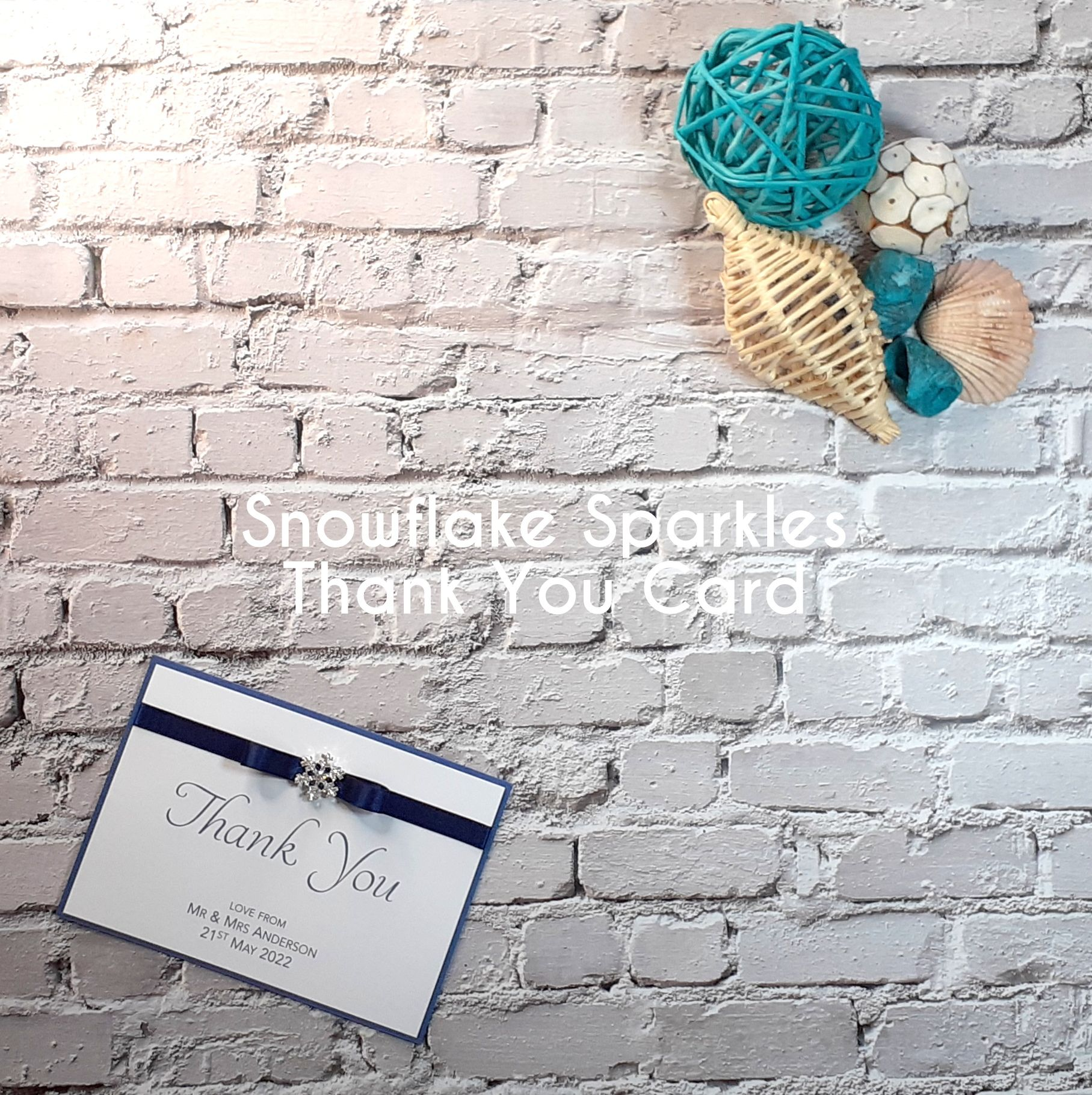 Snowlfake Sparkles Thank You Card