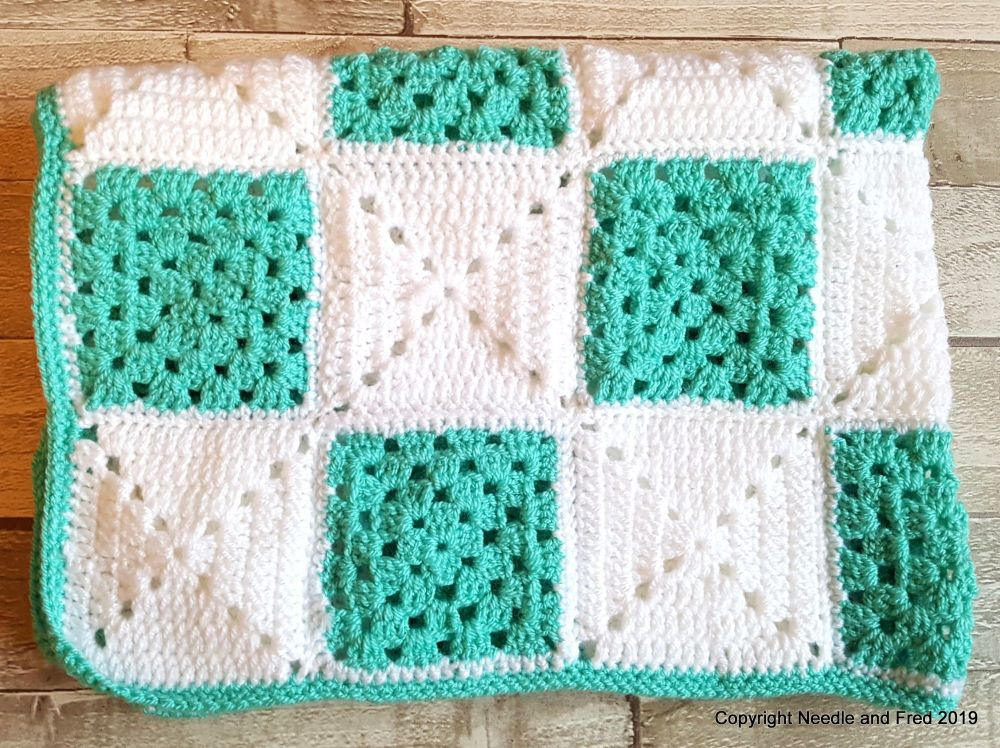 001. Abstract Crochet Blanket - Small