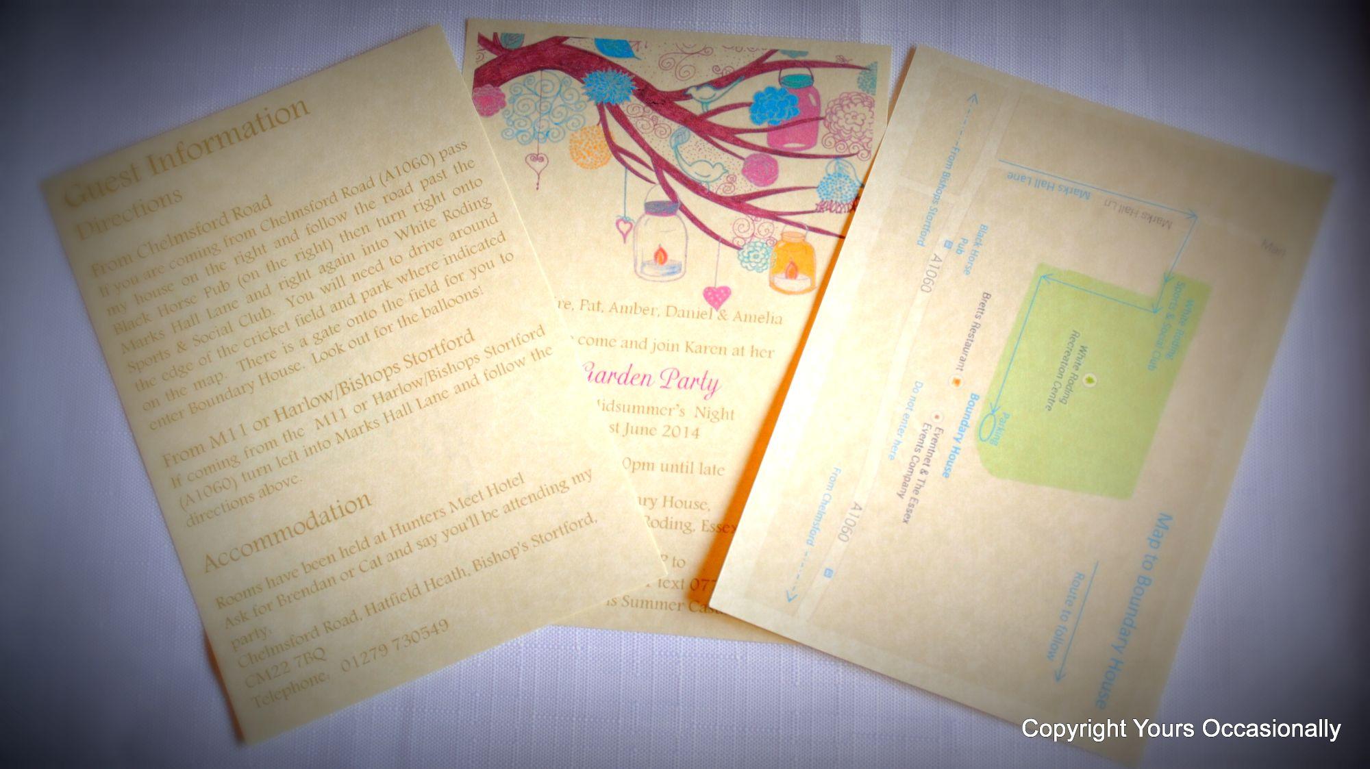 Bespoke Party Invitations