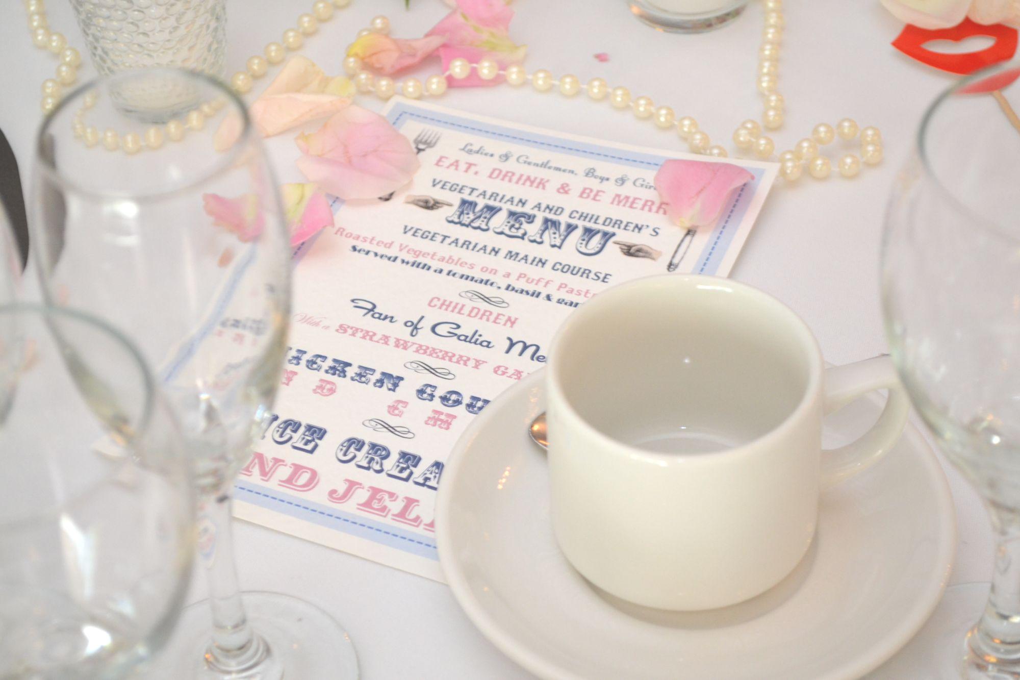 Bespoke Wedding Breakfast Menu Card