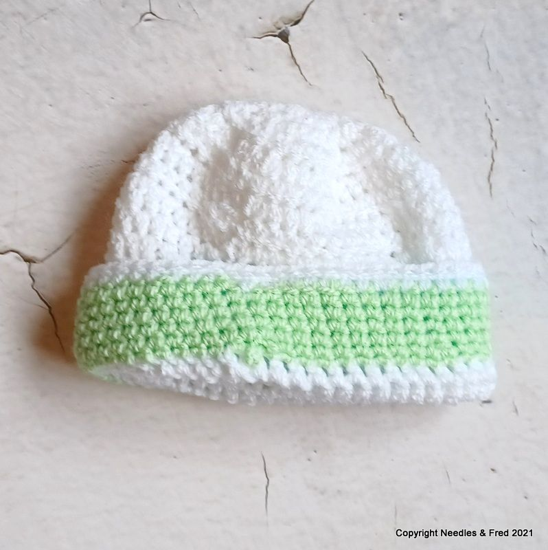 White Hat with Green border