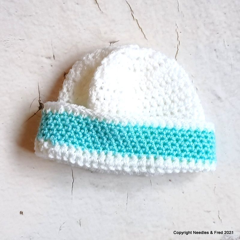 White Hat with Blue border