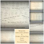 Welcome Letter Collage
