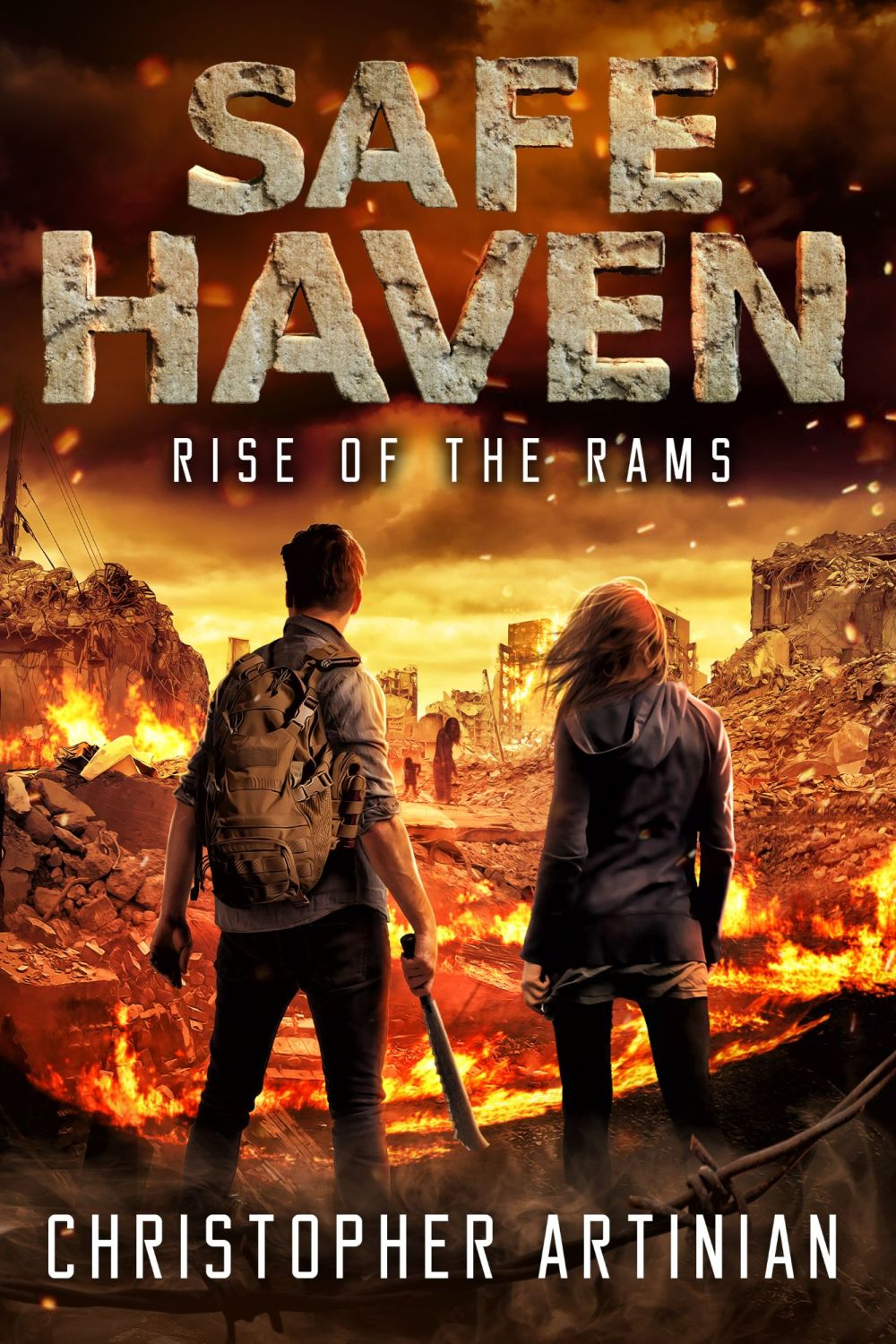 SAFE HAVEN - RISE OF THE RAMS (CHRISTIAN BENTULAN COVER) (SIGNED PAPERBACK)