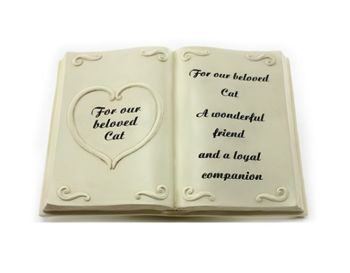 In Loving Memory Bible Cream Graveside Memorial Ornament For Our Cat WAS £7.49