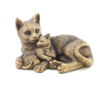 Leonardo Collection - Reflections - Bronzed Cat & Kitten Cuddle