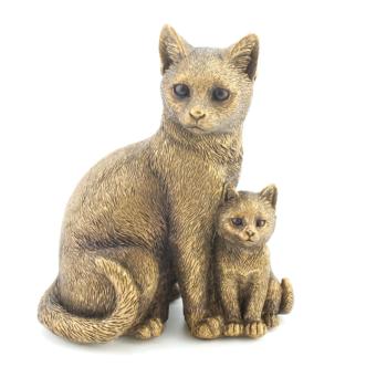 Leonardo Collection - Reflections - Bronzed Cat & Kitten