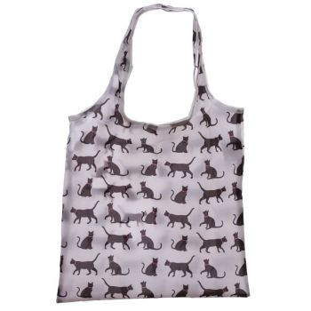 Foldable Bag With Black Cats