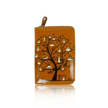 Cats In A Tree Purse - Small - Camel