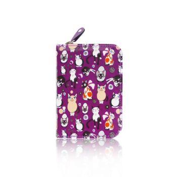 Cats All Over Purse - Small - Purple