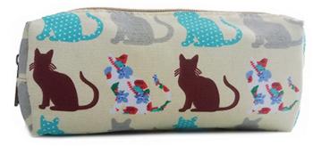 Patchwork Cats - Pencil case - Beige
