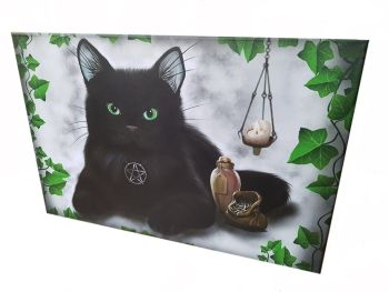 Black Cat & Pentagram Canvas Print - 60cm x 40cm WAS £11.99