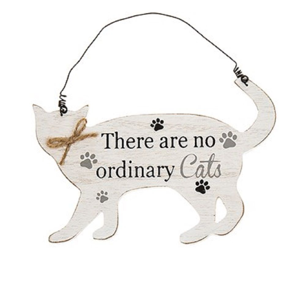Wooden Cat Shaped Sign/Plaque - Purrfect Pals - There Are No Ordinary Cats