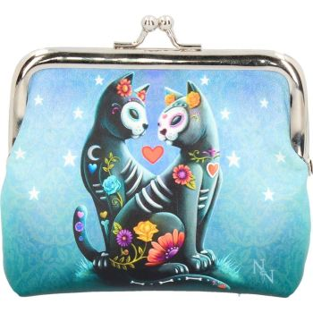 Coin Purse - Starry Night - Punk Cats