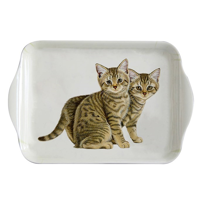 Small Tea Tray - Tabby Kittens