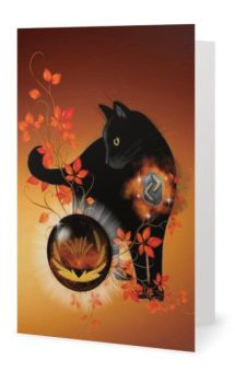 Blank Greeting Card - Rune Guardian Jera