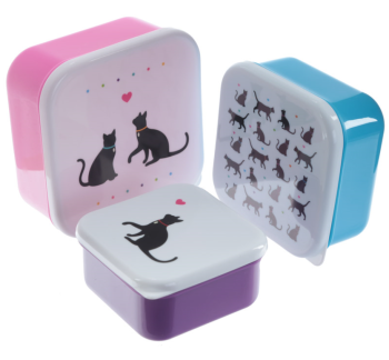 Cat Lunch/Storage Boxes - Set of 3 WAS £8.99