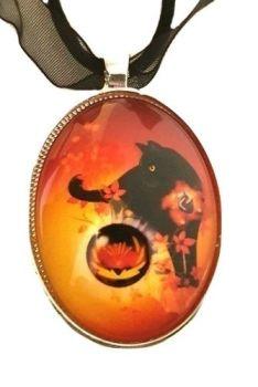 Rune Guardian Jera - Glass & SP Necklace