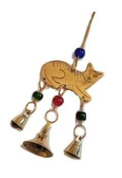 Cat & Brass Bells Chime WAS £6.99