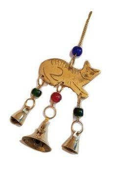 Cat & Brass Bells Chime