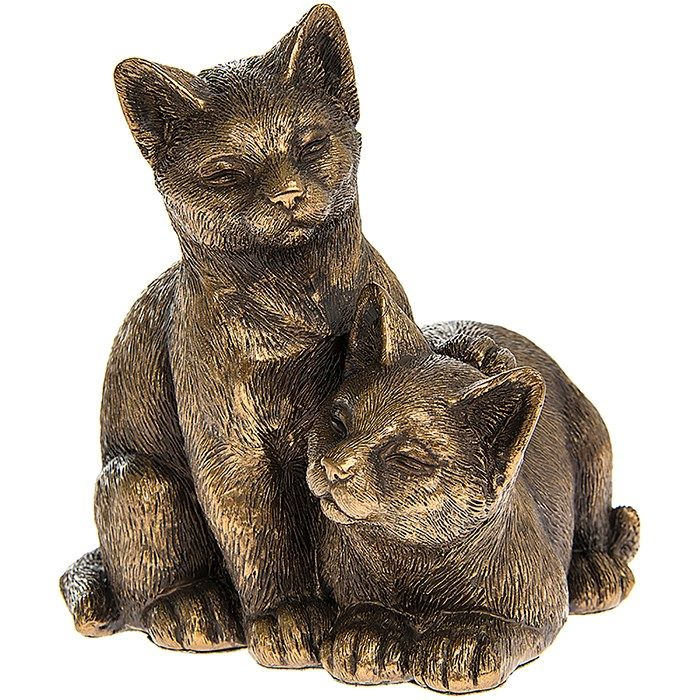 Leonardo Collection - Reflections - Bronzed Kitten Pair
