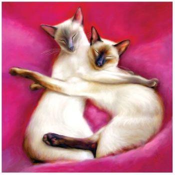 "Denise Laurent Art - Greetings Card ""Sugar plum fairies"""