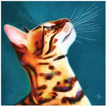 "Denise Laurent Art - Greetings Card ""What's up"""